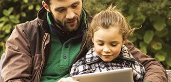Common Sense Media dad and child