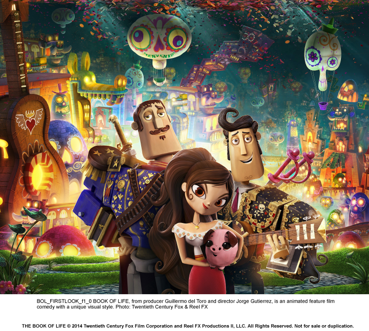 Book of Life cast of characters #BookofLife by Guillermo del Toro