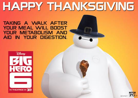 Baymax Happy Thanksgiving BIG HERO 6
