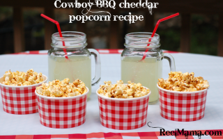 Cowboy BBQ Cheddar Popcorn: A perfect recipe for a date night in with The Longest Ride