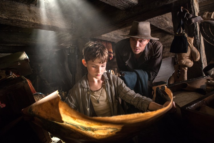 Pan trailer and sneak peek: Levi Miller as Peter and Garrett Hedlund as James Hook in Warner Brother's action adventure family film PAN. Photo: Warner Brothers Pictures