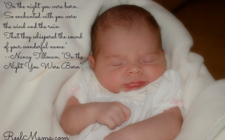 "How to pick a baby name: On Night You Were Born quote: ""On the night you were born...So enchanted with you were the wind and the rain That they whispered the sound of your wonderful name."""