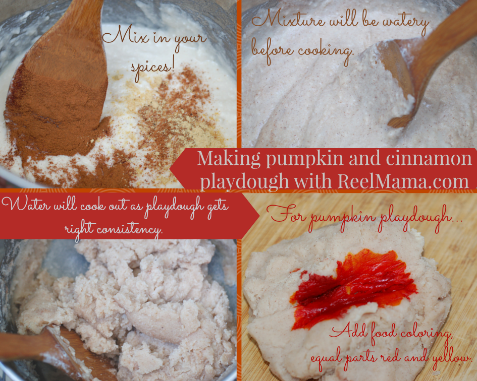 How to make cinnamon and pumpkin playdough