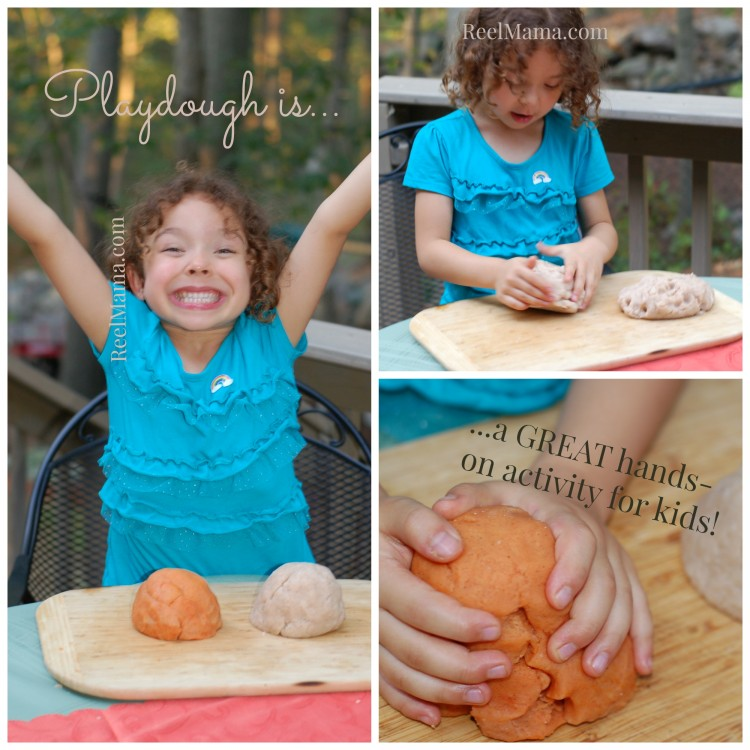 Making cinnamon and umpkin playdough is a great activity for kids!