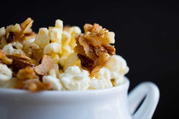 Candied almond chipotle popcorn from Life with Lisa
