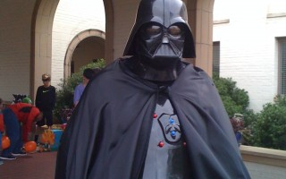 My dad as Darth Vader: the world's coolest dad!