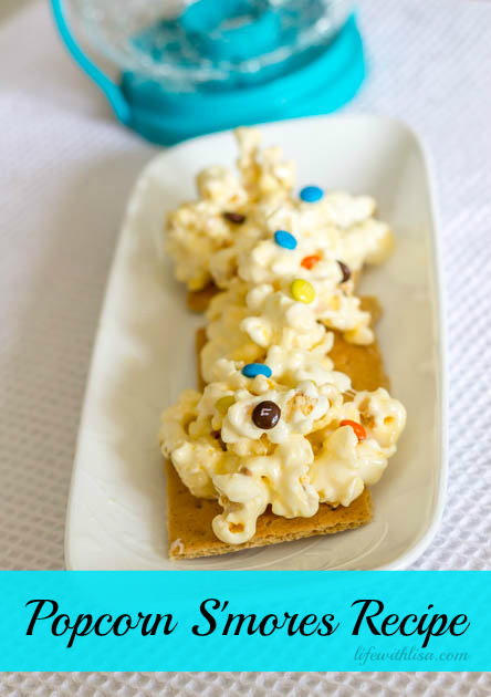 Popcorn s'mores recipe from Life with Lisa