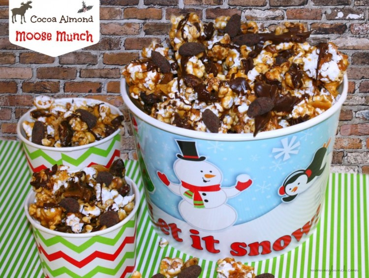 Homemade moose munch with Cocoa Almonds from Mommy Bunch