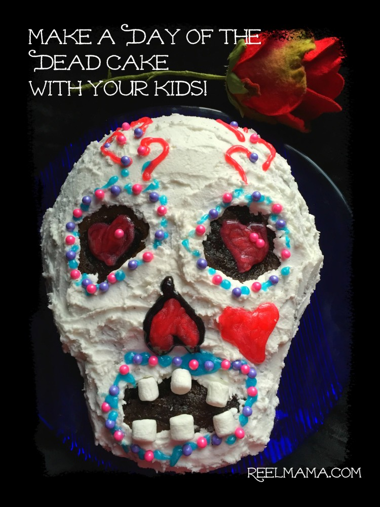 Make a Day of the Dead cake with your kids ~ Dia de los muertos