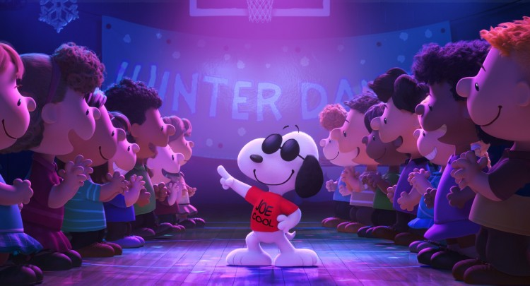 Snoopy as Joe Cool in the Peanuts movie
