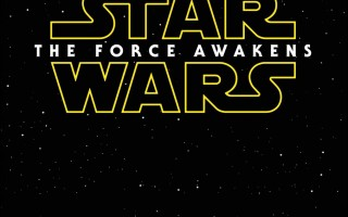 I get chills just looking at this. Star Wars The Force Awakens movie poster. Don't you just love that 70s font? Timeless! Photo: Disney