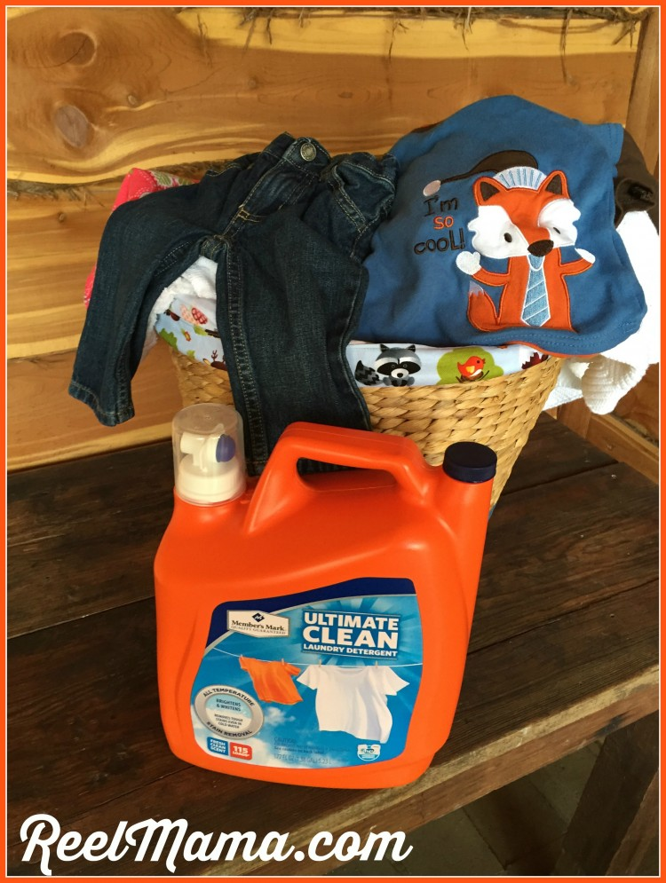 Wash your baby clothes with Member's Mark Ultimate Clean detergent from Sam's Club! Your cute baby clothes hamper will help you with