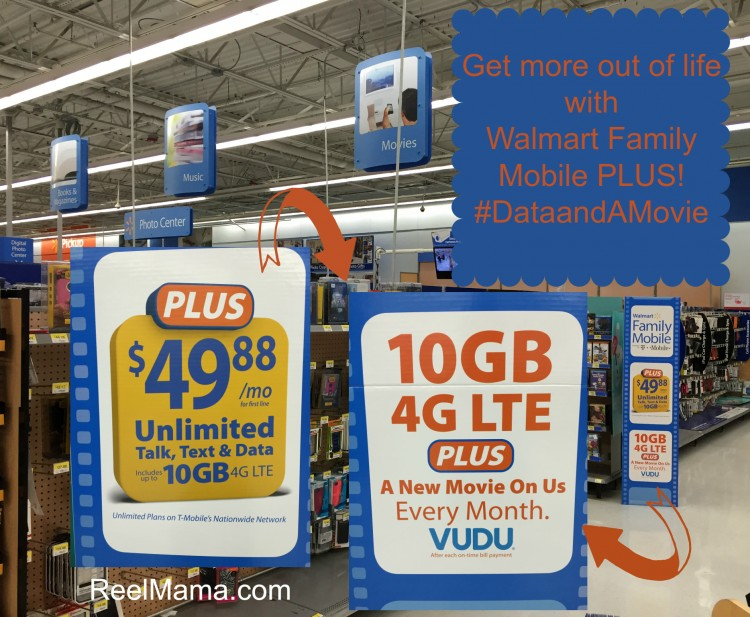 Walmart Family Mobile Plus 10GB 4G LTE is easy to find in the electronics department at Walmart. #DataandAMovie #CollectiveBias #ad