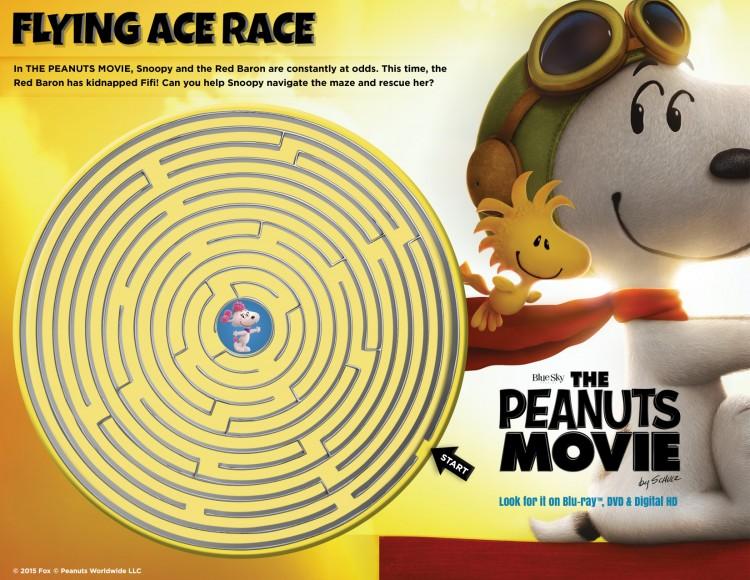 Peanuts Maze Game