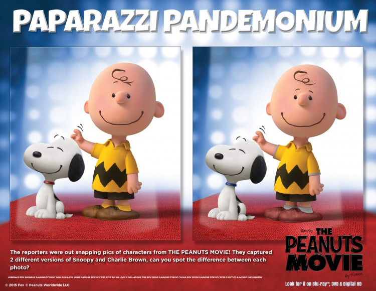 Peanuts Paparrazzi Pandemonium game