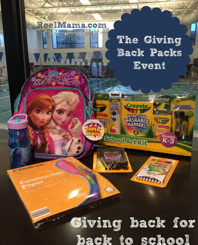 Giving Back Packs Event ~ Giving back for back to school