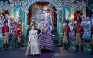 Mackenzie Foy is Clara, Keira Knightley is Sugar Plum Fairy, Jaden Fowara-Knight is Phillip, Eugenio Derbez is Hawthorne and Richard E. Grant is Shiver in Disney's THE NUTCRACKER AND THE FOUR REALMS.