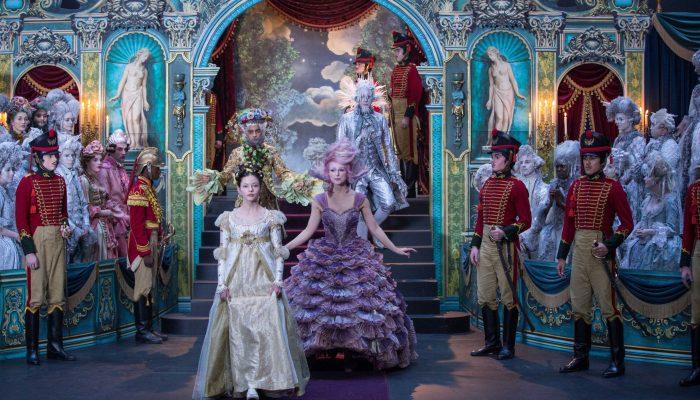 Mackenzie Foy is Clara, Keira Knightley is Sugar Plum Fairy, Jaden Fowara-Knight is Phillip, Eugenio Derbez is Hawthorne and Richard E. Grant is Shiver in Disney's THE NUTCRACKER AND THE FOUR REALMS.