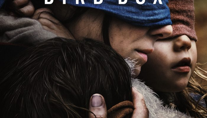 Bird Box on Netflix stars Sandra Bullock. It's a psychological science fiction thriller.
