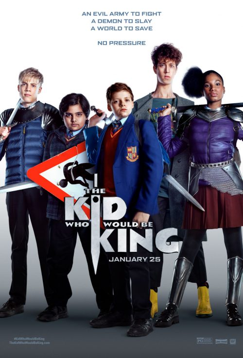 The Kid Who Would Be King movie poster starring Louis Ashbourne Serkis