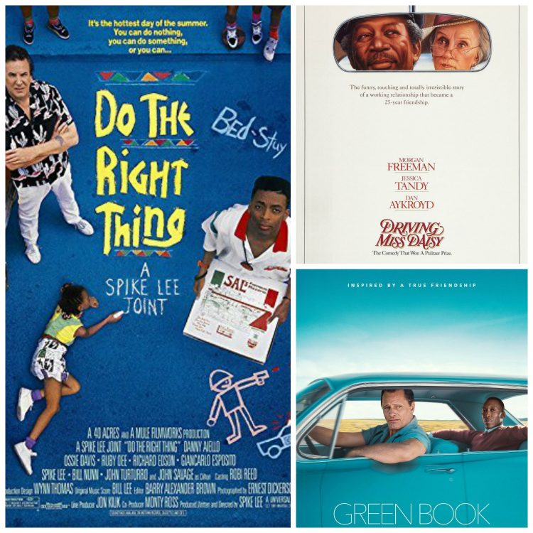 Green Book won the Best Picture Oscar 2019. Do the Right Thing was shut out of the Best Picture nomination in 1990, and Driving Miss Daisy won that year.