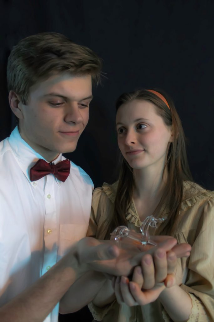 Keith Robinson as Jim and Genevieve Young as Laura in The Glass Menagerie at the Boston Children's Theater