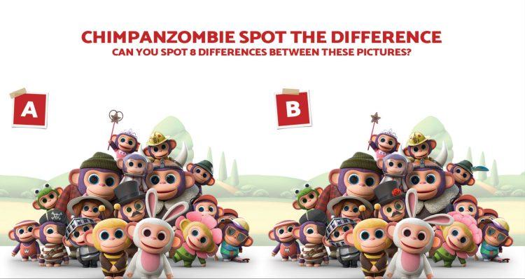 Wonder Park Chimpanzombies activity sheet