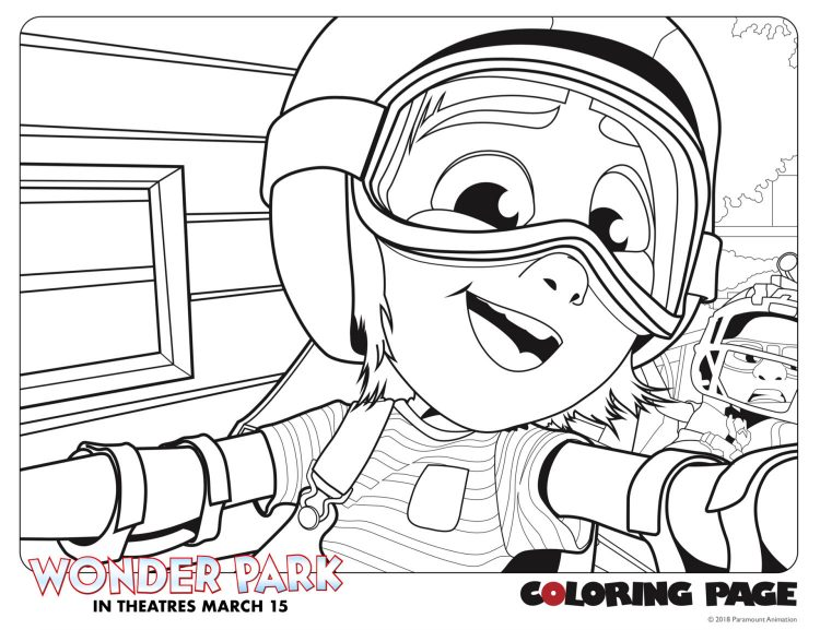 Wonder Park coloring sheet featuring June