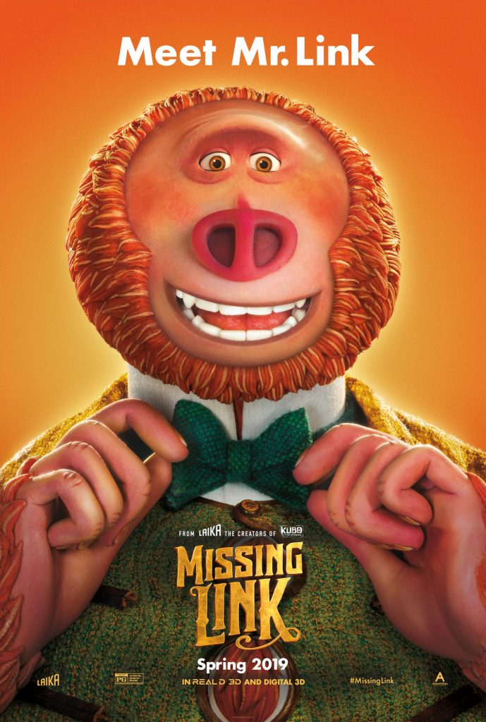 Missing Link from Laika Studios in new in theaters for spring 2019!