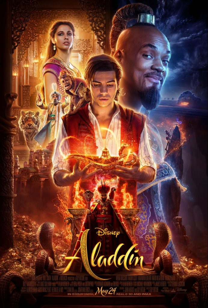 Movie poster for Disney's live action Aladdin