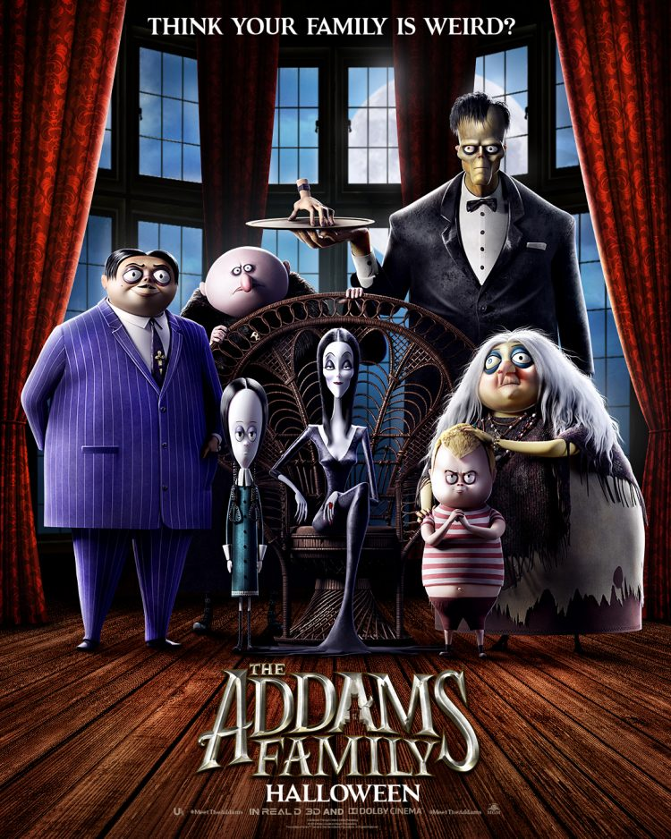 Animated Addams Family movie poster