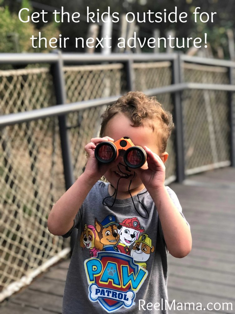 Turn your kids to explorers on their next outdoor adventure! Binoculars can add to the fun.