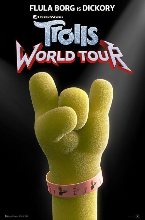 Trolls World Tour poster: Flula Borg stars as Dickory