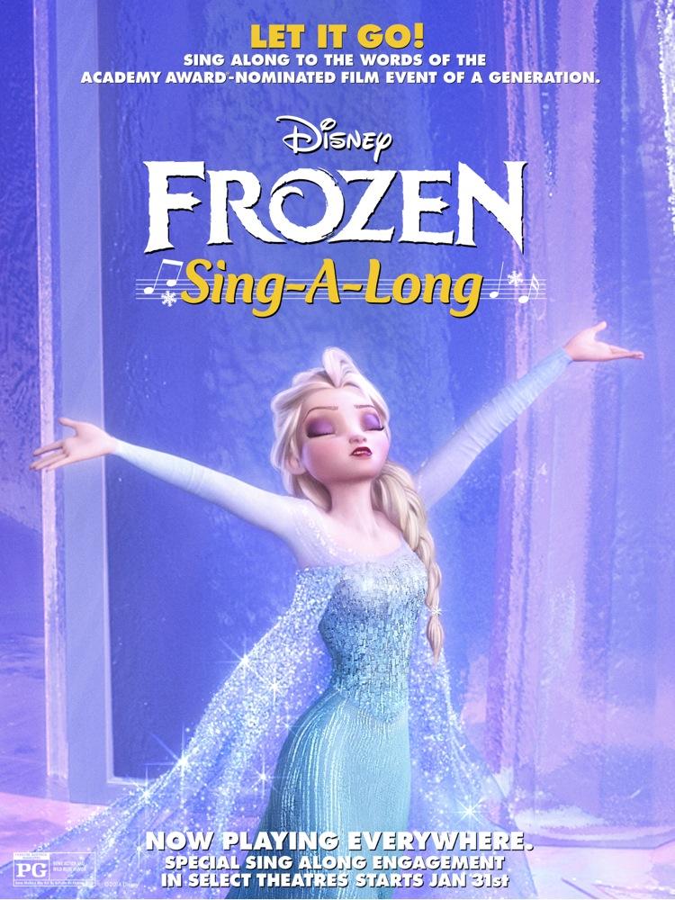 Lyric frozen let it go lyrics : Disney Frozen sing along version hitting theaters on January 31, 2014!