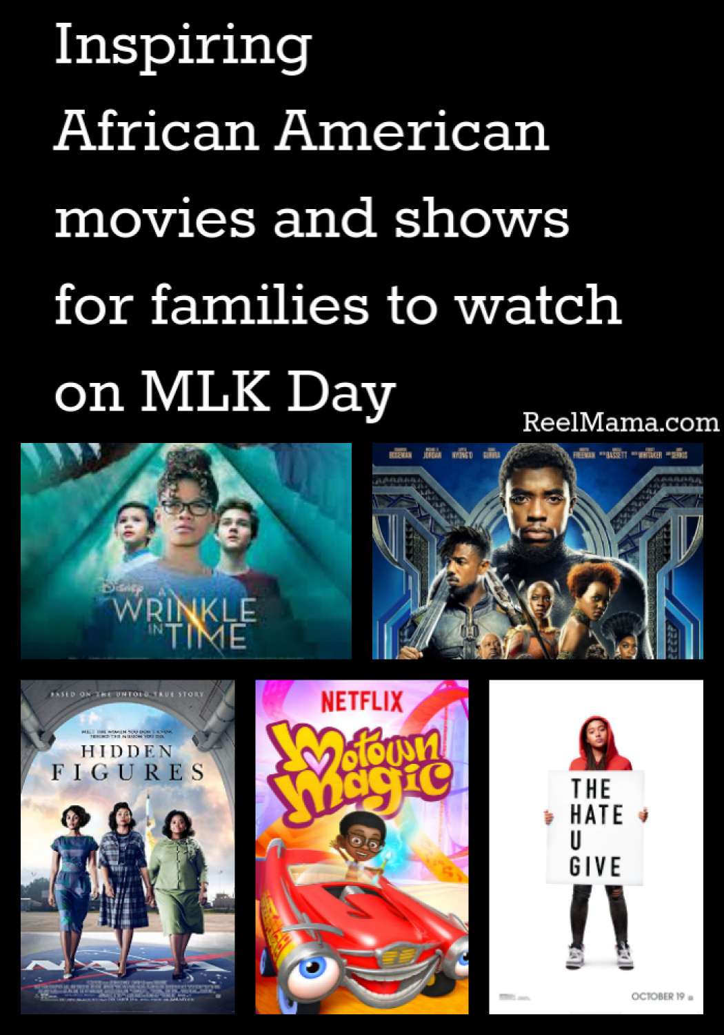 Inspiring African American movies and shows for families